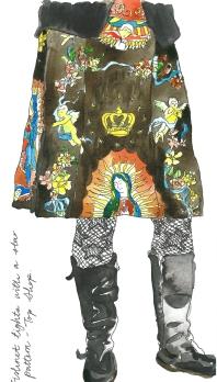 star fishnet tights by Myfanwy Tristram