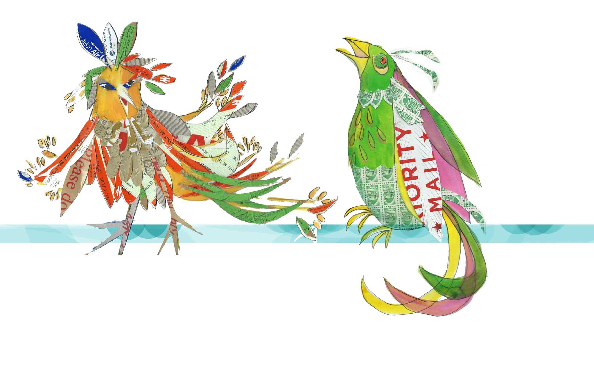 stampbirds by Myfanwy Tristram