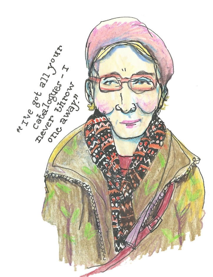 Beret lady by Myfanwy Nixon