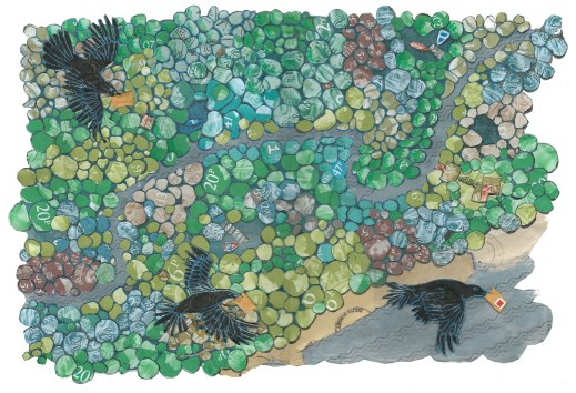 Stamp forest by Myfanwy Tristram
