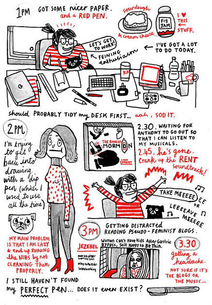 Hourly Comic day by Gemma Correll