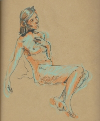 Life drawing by Myfanwy Tristram
