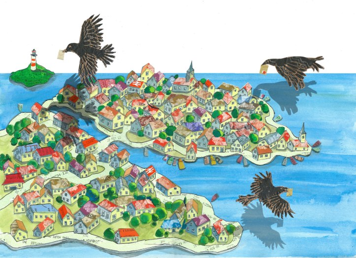 Birds island by Myfanwy Tristram