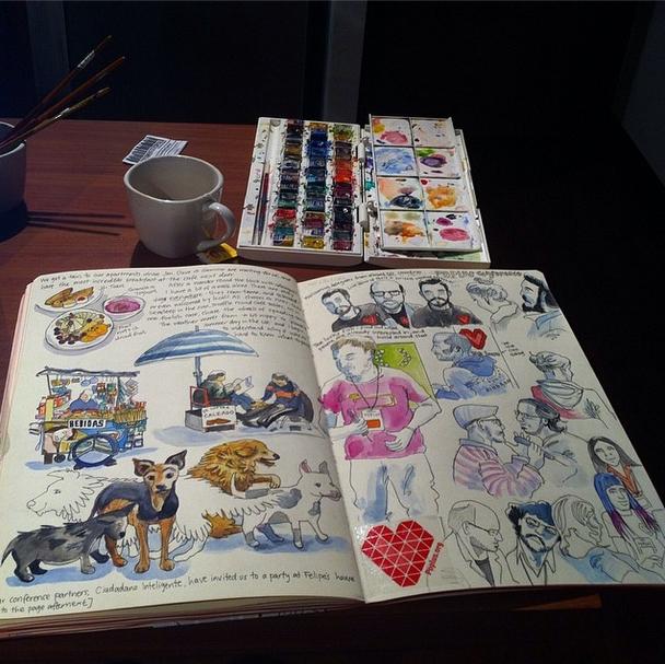 Myfanwy Tristram Santiago sketch diary