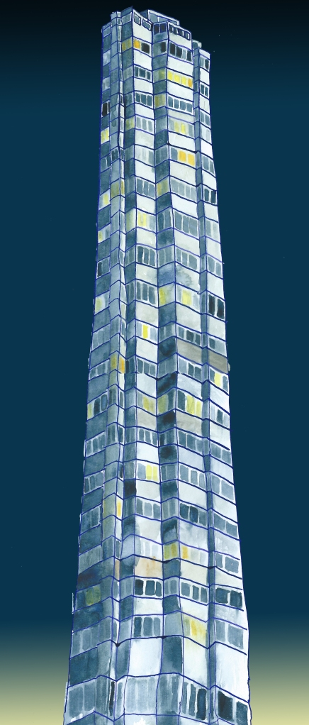 towerblock by Myfanwy Tristram