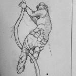 pencil rough by Myfanwy Tristram