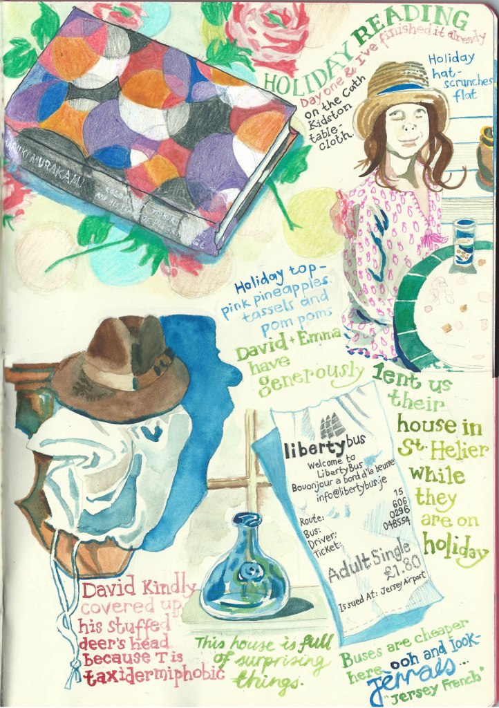 Jersey Diary page 1 by Myfanwy Tristram