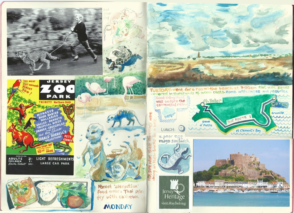 Jersey sketch diary by Myfanwy Tristram