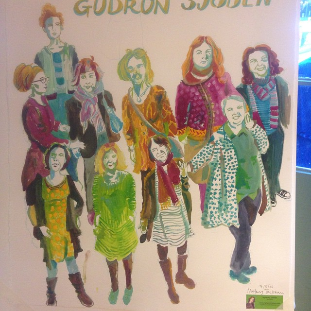 Gudrun Sjoden painting by Myfanwy Tristram