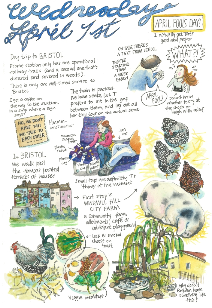 Frome sketch diary by Myfanwy Tristram