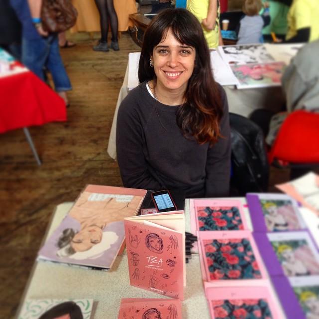 Marianna madriz at Brighton Illustration fair