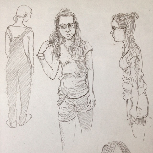 character sketches by Myfanwy Tristram