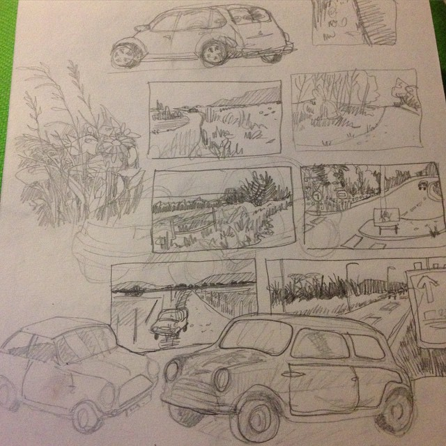 Sketching by Myfanwy Tristram