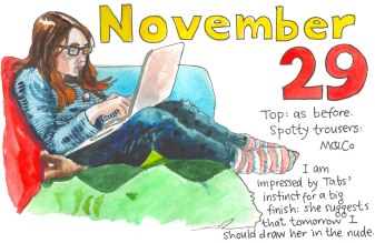 Clovember - illustration by Myfanwy Tristram
