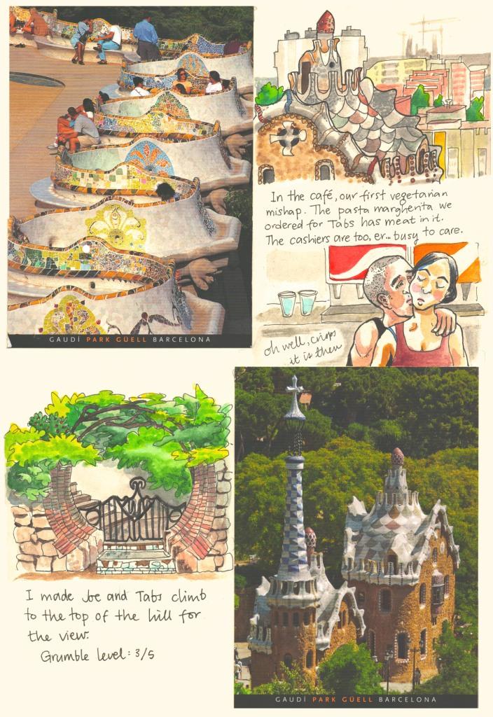 Barcelona sketch diary by Myfanwy Tristram