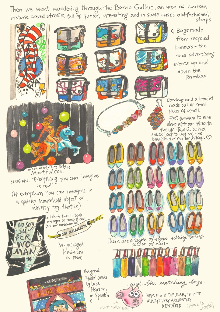 Barcelona sketch diary by Myfanwy Tristram - page 8