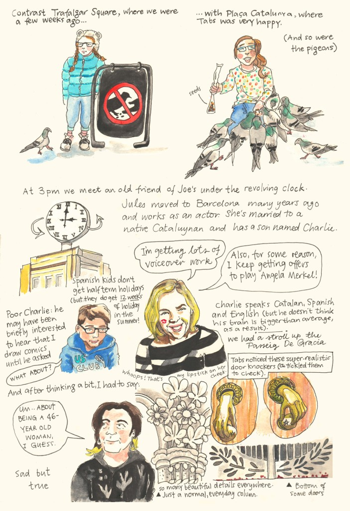 Barcelona sketch diary by Myfanwy Tristram - page 9
