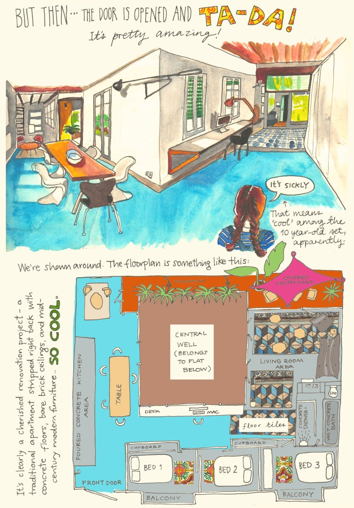 Barcelona sketch diary by Myfanwy Tristram page 3