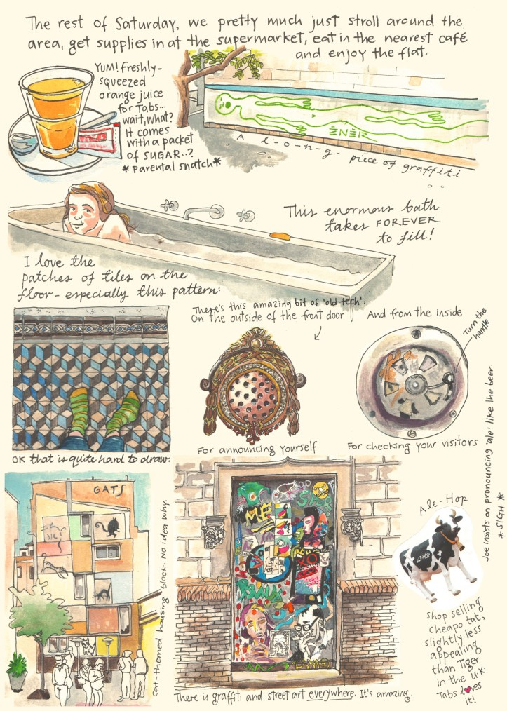 Barcelona sketch diary by Myfanwy Tristram page 4