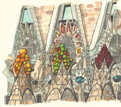 Barcelona SagradaFamilia by Myfanwy Tristram