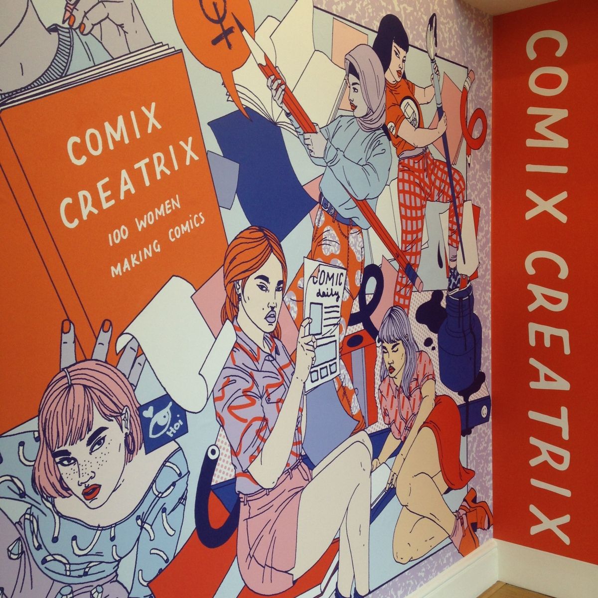 Comics Creatrix poster by Laura Callaghan
