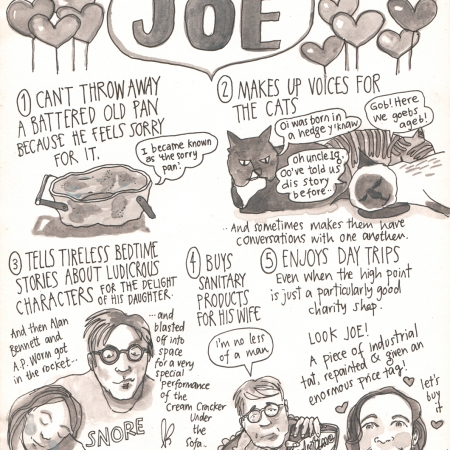 reasons to love Joe by Myfanwy Tristram