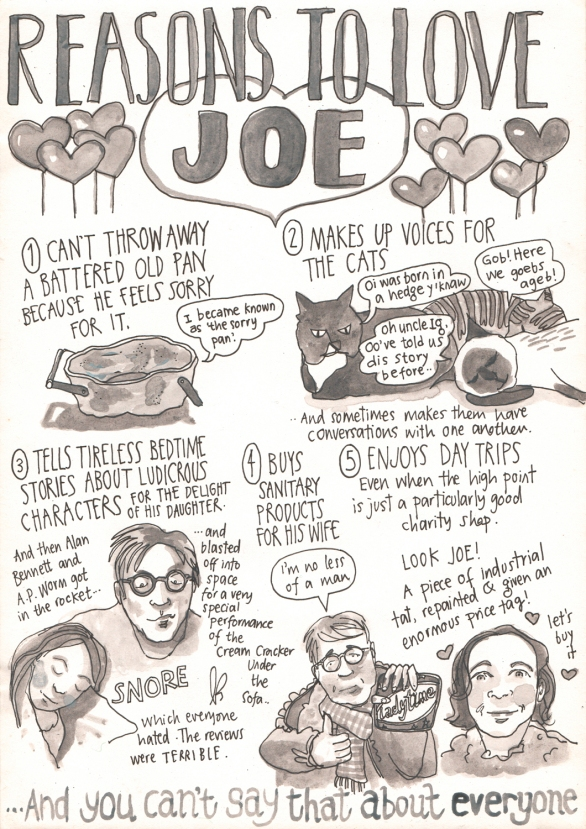 reasons to love Joe by Myfanwy Tristram