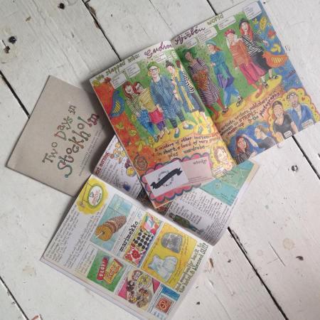 Myfanwy Tristram: printed Stockholm diaires for Gudrun Sjoden