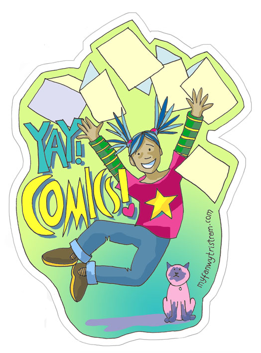 Comics best thing ever Sticker by Myf Tristram