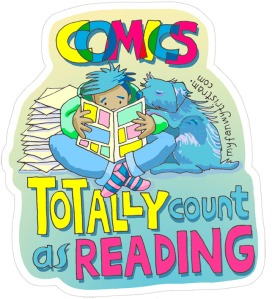 comics totes count sticker by Myf Tristram