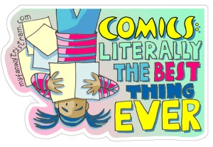 comics literally the best sticker by Myf Tristram