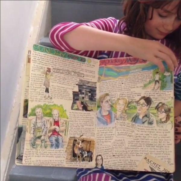 sketch diary by Myfanwy Tristram