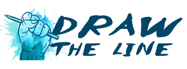 Draw The Line logo by Karrie Fransman