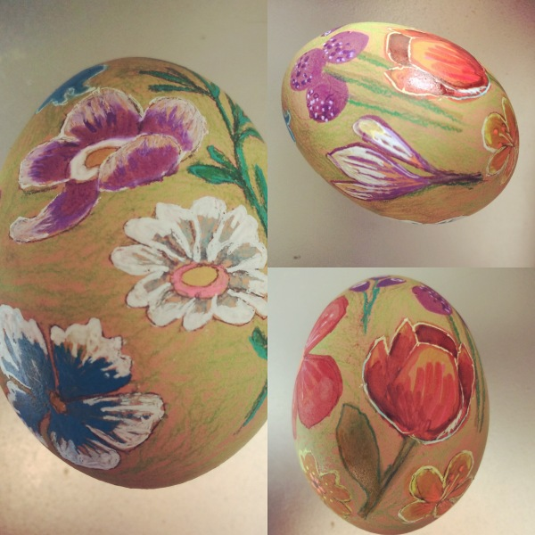 decorated egg by Myfanwy Tristram