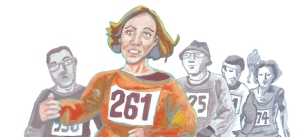 Kathrine Switzer by Myfanwy Tristram banner