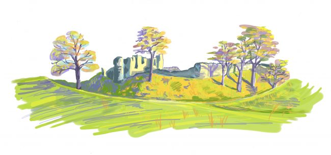 kendal castle by Myfanwy tristram