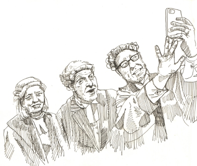 Oct 14: High court judges take a selfie at the valediction ceremony for Mr Justice Bodey.