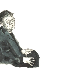 Oct 5: Kazuo Ishiguro being interviewed after learning that he'd won the Nobel Prize for literature
