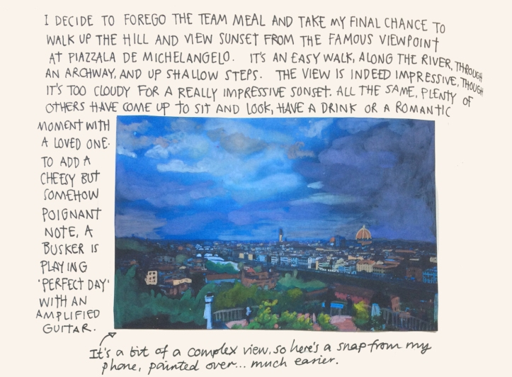 Florence sketch diary by Myfanwy Tristram