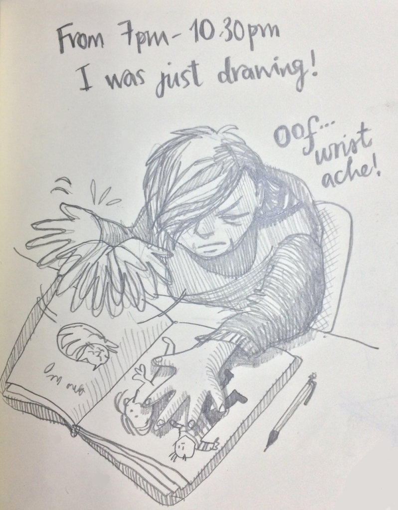 Hourly Comic Day 7pm Myfanwy Tristram