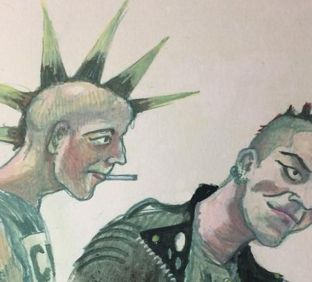 punks by Myfanwy Tristram
