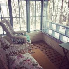 Enclosed verandah on the first floor of Villa Salin