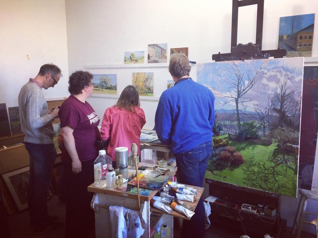 Chris Aggs in his studio