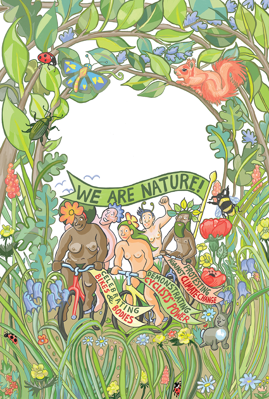 Myfanwy Tristram naked bike ride Brighton 2019 poster design