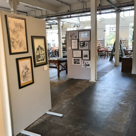 Sunnybank Mills in Leeds, with Panel Show exhibition up