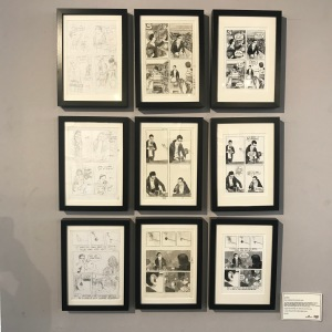 Joe Decie's comics at Panel Show exhibition