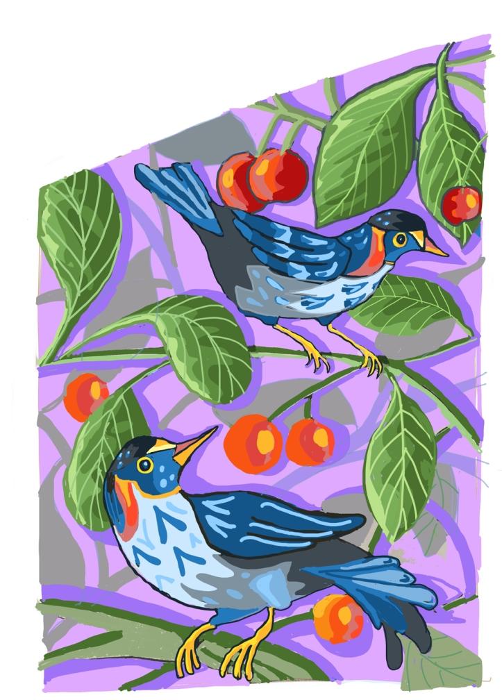 mural sketch by Myfanwy Tristram
