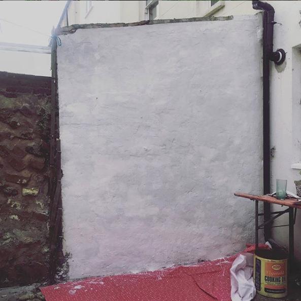 A blank white wall