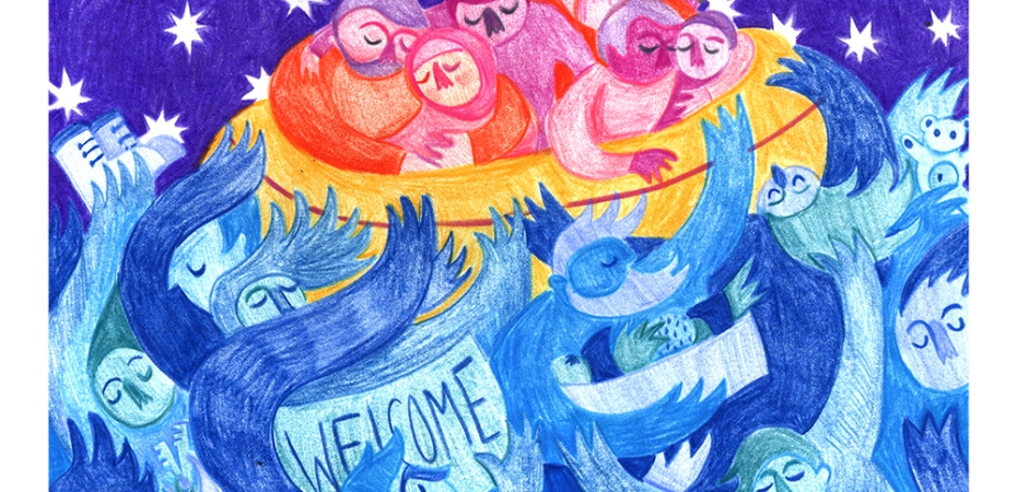 Put Out A Welcome Mat by Karrie Fransman