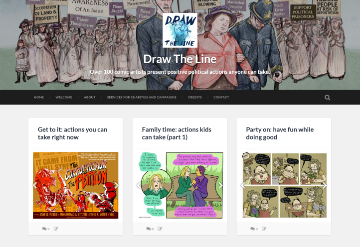 Draw The Line homepage